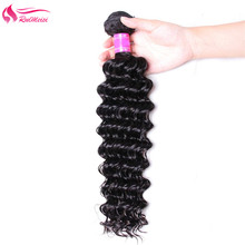 Human-Hair-Bundles Remy-Hair Deep-Wave Natural-Color Hair-Peruvian RUIMEISI 1pcs 150%Density