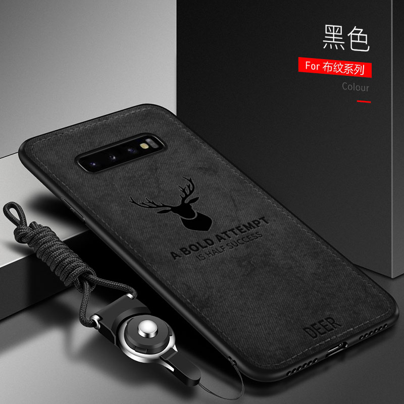 For Samsung Galaxy S10 S9 S8 Plus S10E Case Soft Silicone+Hard Fabric Deer Slim Protect Back Cover Case For Samsung S7 S6 Edge