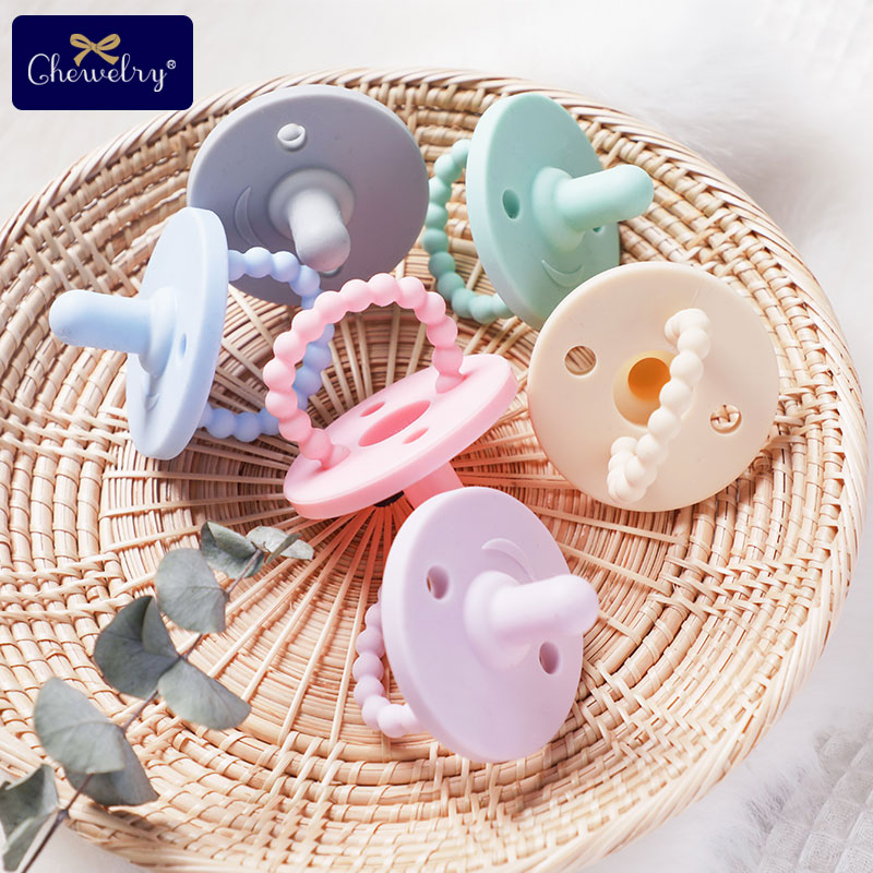 Baby Silicone Teether Infant Nipple Pacifier Pendant BPA Free Teething Toys Nursing Accessories Gift Children's Products Toys