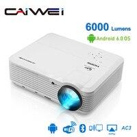 CAIWEI A7/A7AB Android проектор 1080p Full Hd Домашний кинотеатр светодиодный проектор для поддержки 4k портативный мобильный Wifi видео ТВ проектор