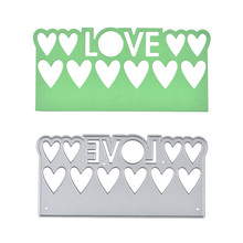 Diyarts Love Border Metal Cutting Dies for Card Making Scrapbooking Embossing Stencil Craft Frame Lace