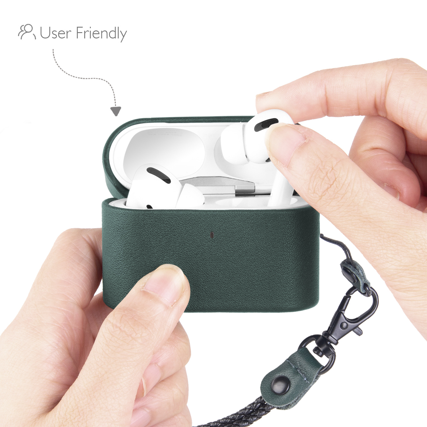 Genuine Leather Case For Airpods Pro Protective Cover For Airpods