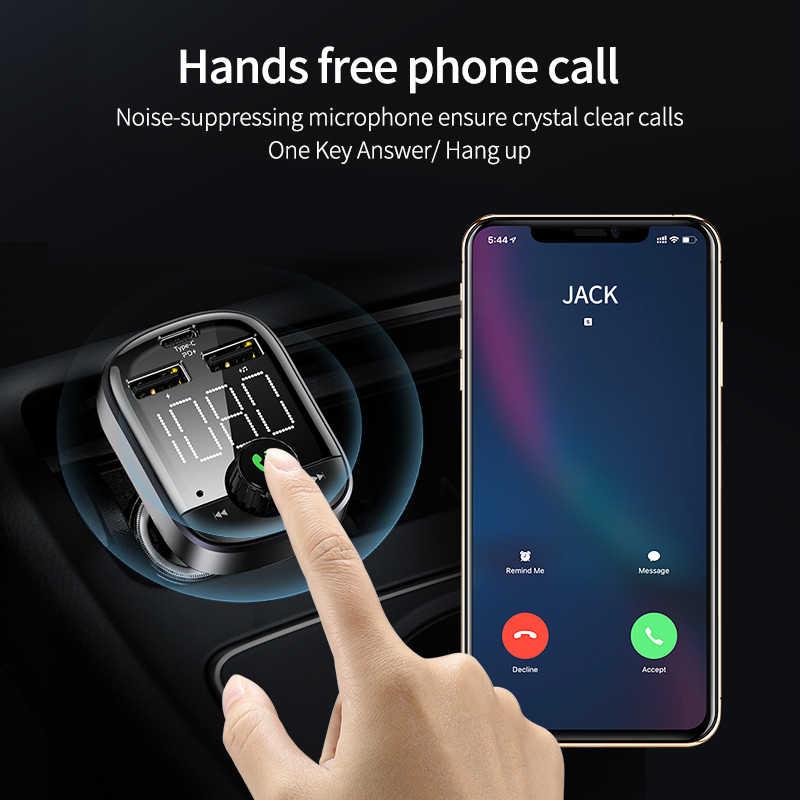 Floveme PD3.0 Sạc Trên Ô Tô Cho iPhone 11 LED Cổng USB Sạc Điện Thoại Sạc Nhanh Với Bộ Phát FM Bluetooth 5.0 Xe Ô Tô bộ MP3 Chơi
