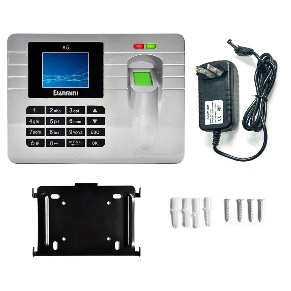 DANMINI A5 Fingerprint sensor Employee Attendance Machine Time Clock Recorder 2.4-Inch TFT Color Screen fingerprint door lock