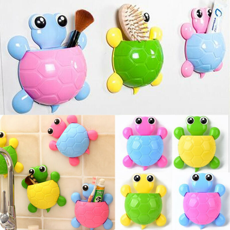 Cartoon Animal Toothbrush Holder Wall Mounted Stand Suction Cup Toothbrush Toothpaste Holder Storage Rack New image