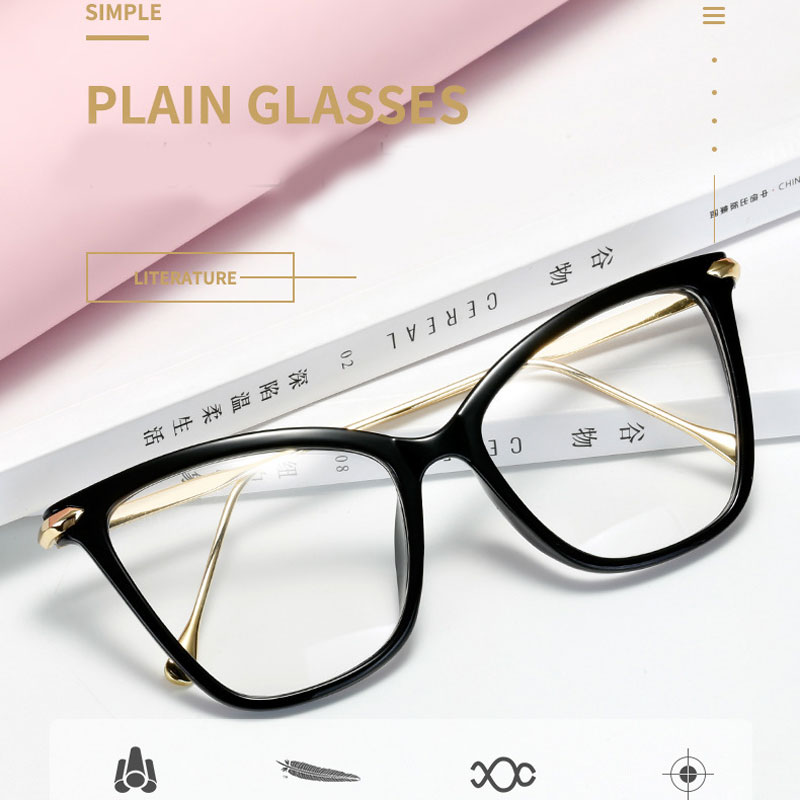 Купить 2020 оправа для очков «кошачий глаз» женские металлические очки