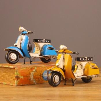 Juguete modelo de motocicleta de 23x10x14cm, regalos creativos, artesanías de hierro, adornos Retro, minivespa de cordero, Scooter, motocicleta, modelo de juguete