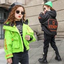 Вельветовые свитера для девочек стеганая куртка с хлопковой