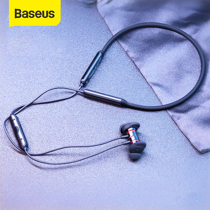 Baseus Sports Wireless Headphones IPX5 Waterproof Bluetooth Earphones Hifi Headset Neckband Earbuds With Mic For IPhone Android