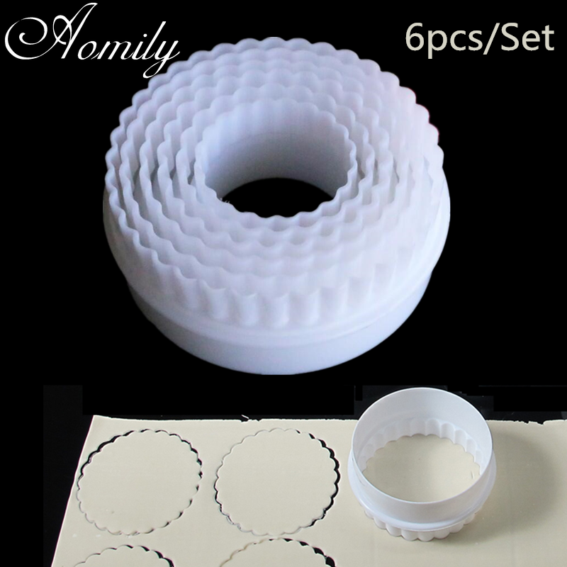 Aomily Cake Molds Round Embossing Cutting Mould Cookie Baking Pastry Chocolate Mold Jelly Fondant Mold Kitchen Baking Tool
