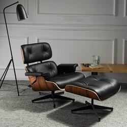 Furgle Silla de salón clásica moderna, muebles de Diván, réplica de silla de salón, silla giratoria de cuero real, sala de estar ocio para, hotel