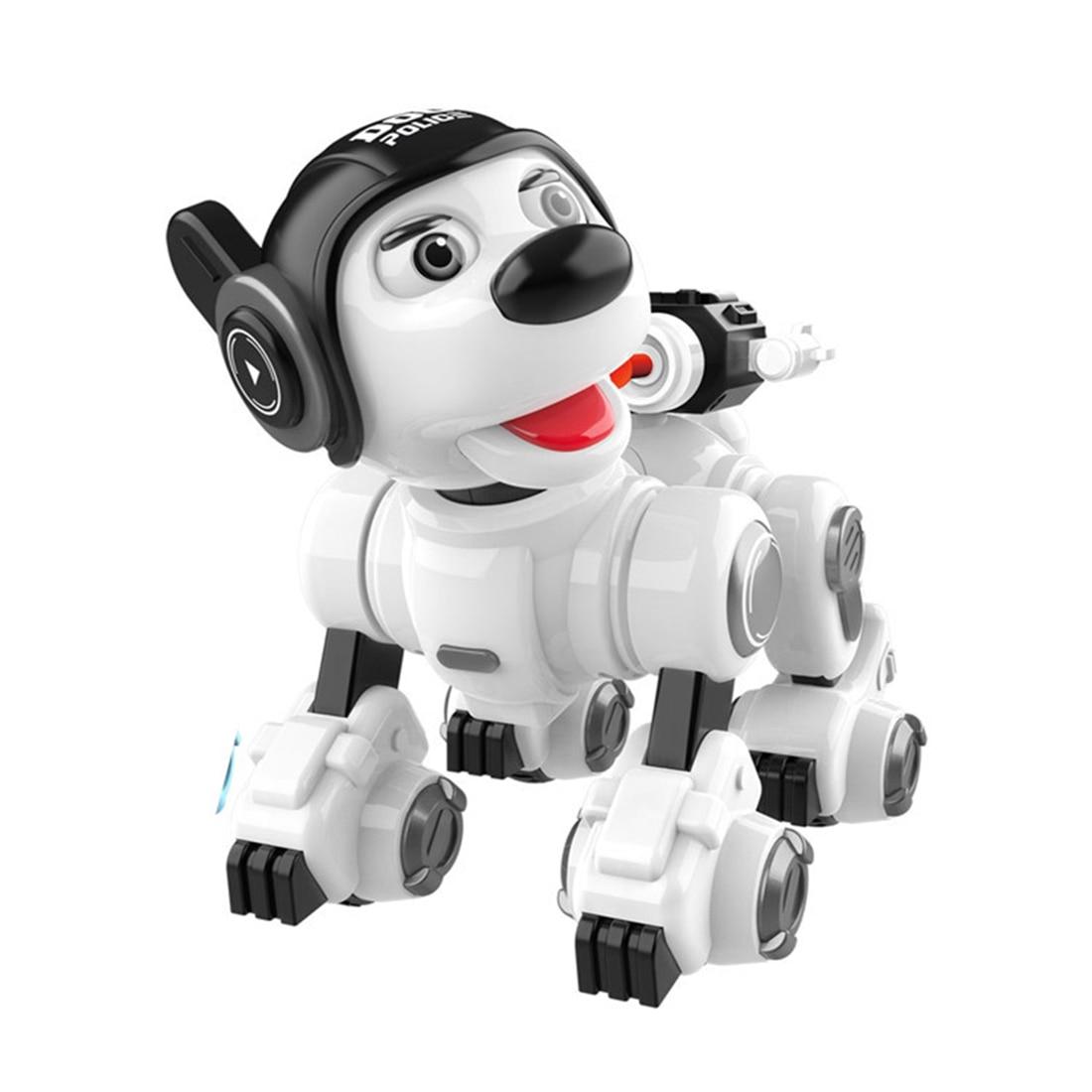 Children Remote Control Intelligent Robotic Dog Interactive Walking Dancing Singing Programmable Robot Police Dog For Kids Gift