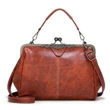 цена на 2020 new women's bag Europe and America fashion handbag retro wild clip bag shoulder messenger bag  Casual Tote Solid handbag