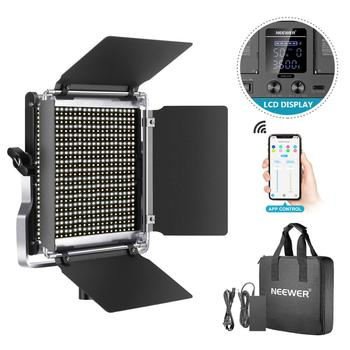 цена на Neewer 660 LED Video Light, Dimmable Bi-Color Photography Lighting Kit with APP Control System, Professional for YouTube Studio