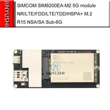 Módulo simcom sim8200ea m2 m2 5g com adaptador usb nr/lteffdd/ltettdd/hspa + m.2 r15 nsa/sa sub6 6g mais rápido que EM20-G ec25
