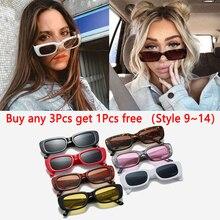 Retro Sunglasses Square Rectangle Vintage Luxury Women Brand Travel Hot