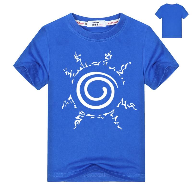 2021 Hot Fashion Anime T Shirt Naruto Short Sleeve T-Shirt For Kids Unisex O-Neck Shirts Uchiha Family Brand tops 6