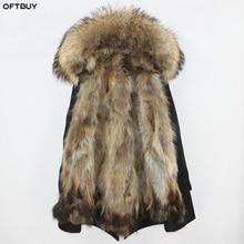 Водонепроницаемая парка OFTBUY, пальто с натуральным мехом, зимняя куртка для женщин, воротник из натурального меха енота, подкладка из лисьего меха, теплая плотная уличная одежда