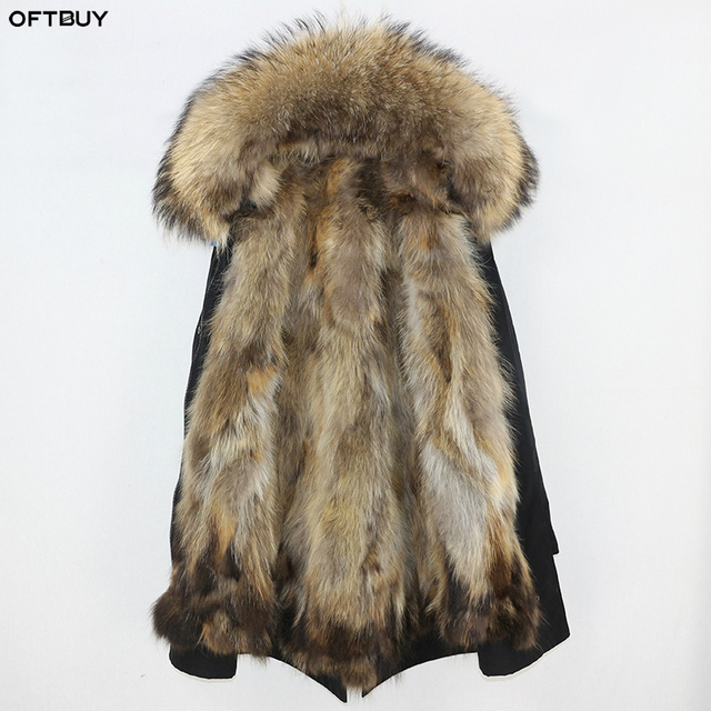 OFTBUY Waterproof Parka Real Fur Coat Winter Jacket Women Natural Raccoon Fur Collar Fox Fur Liner warm thick streetwear outwear 1