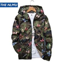 Мужская повседневная камуфляжная куртка с капюшоном новая осенняя одежда с принтом бабочки Мужская ветровка с капюшоном мужская верхняя одежда WS505