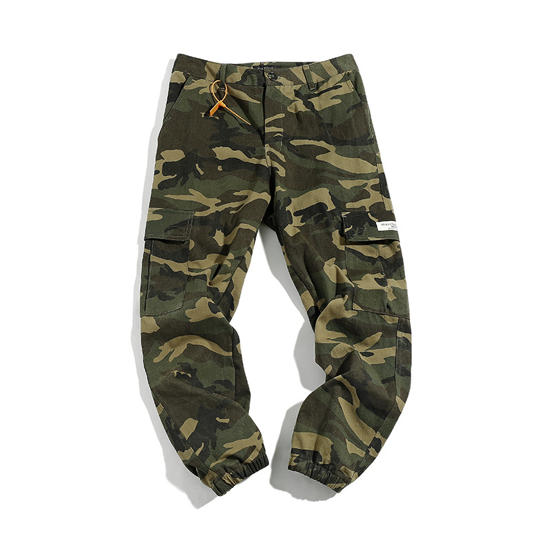 Vertical Ze Produced 19ss Japanese-style Camouflage Casual Pants