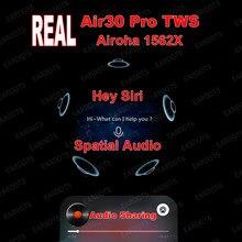 Air30 pro anc tws 1562x verdadeiro sensor de luz real voz wake fone de ouvido sem fio hd microfone duplo bluetooth 5.0 transparência