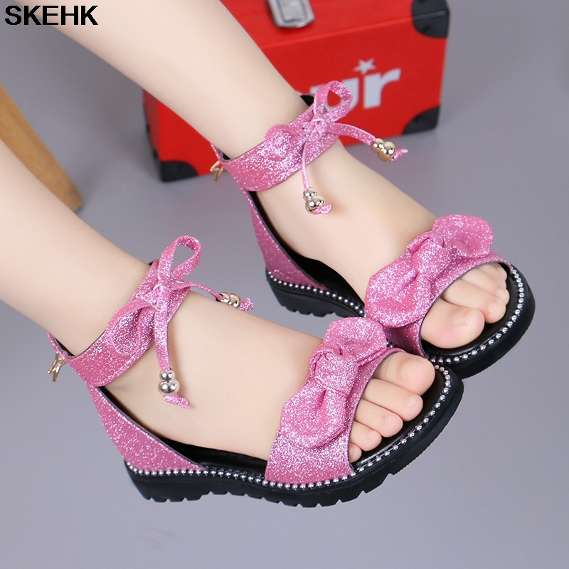 Girl'S Sandals Summer 2020 New Style Fashion Korean-style Princess Shoes CUHK Boy Girl Soft-Sole Children Gladiator Sandals