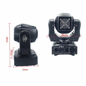 Image 2 - 2pcs LED Spot 60W Moving Head Light Gobo/Pattern Rotation Manual Focus With DMX Controller For Projector Dj Disco Stage Lighting