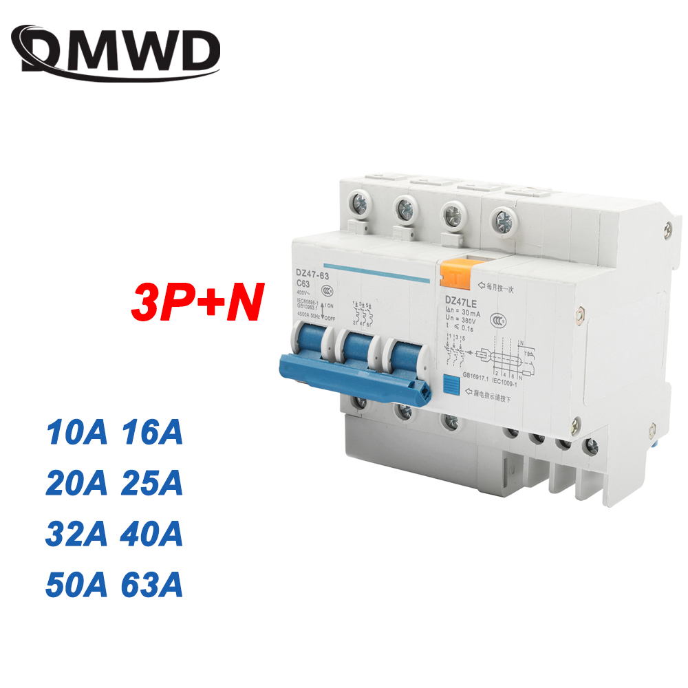 DZ47LE 4P 20A 400V~ 50HZ//60HZ Residual current Circuit breaker  RCBO