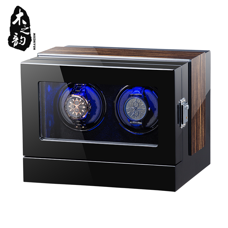 Automatic Wooden Watch Winder Box Accessories Display Mechanical Single Rotating watch uhrenbeweger for men watch