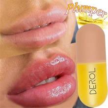 Volumizador instantáneo de labios carnosos, 5ml, brillo, reducción de líneas finas, aceite SÉRUM, máscara de maquillaje humectante, cuidado labial, esencia regordeta