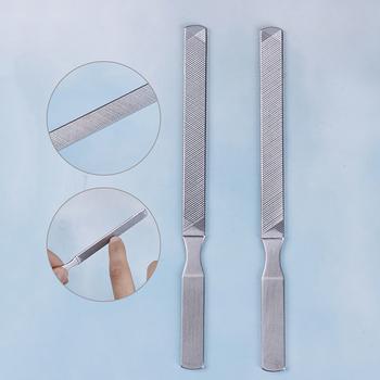 1PC wysokiej jakości stal nierdzewna ze stalowymi ćwiekami plik polerowanie artykuł Manicure Pedicure peeling artykuł narzędzie do paznokci tanie i dobre opinie CN (pochodzenie) 1PC Stainless Steel Nail File Brak Pilnik do paznokci