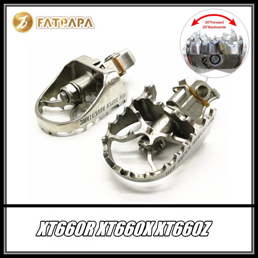 FOR YAMAHA XT660R XT660X <font><b>XT660Z</b></font> Motorcycle Accessories Front Footpegs Foot Rest Peg image