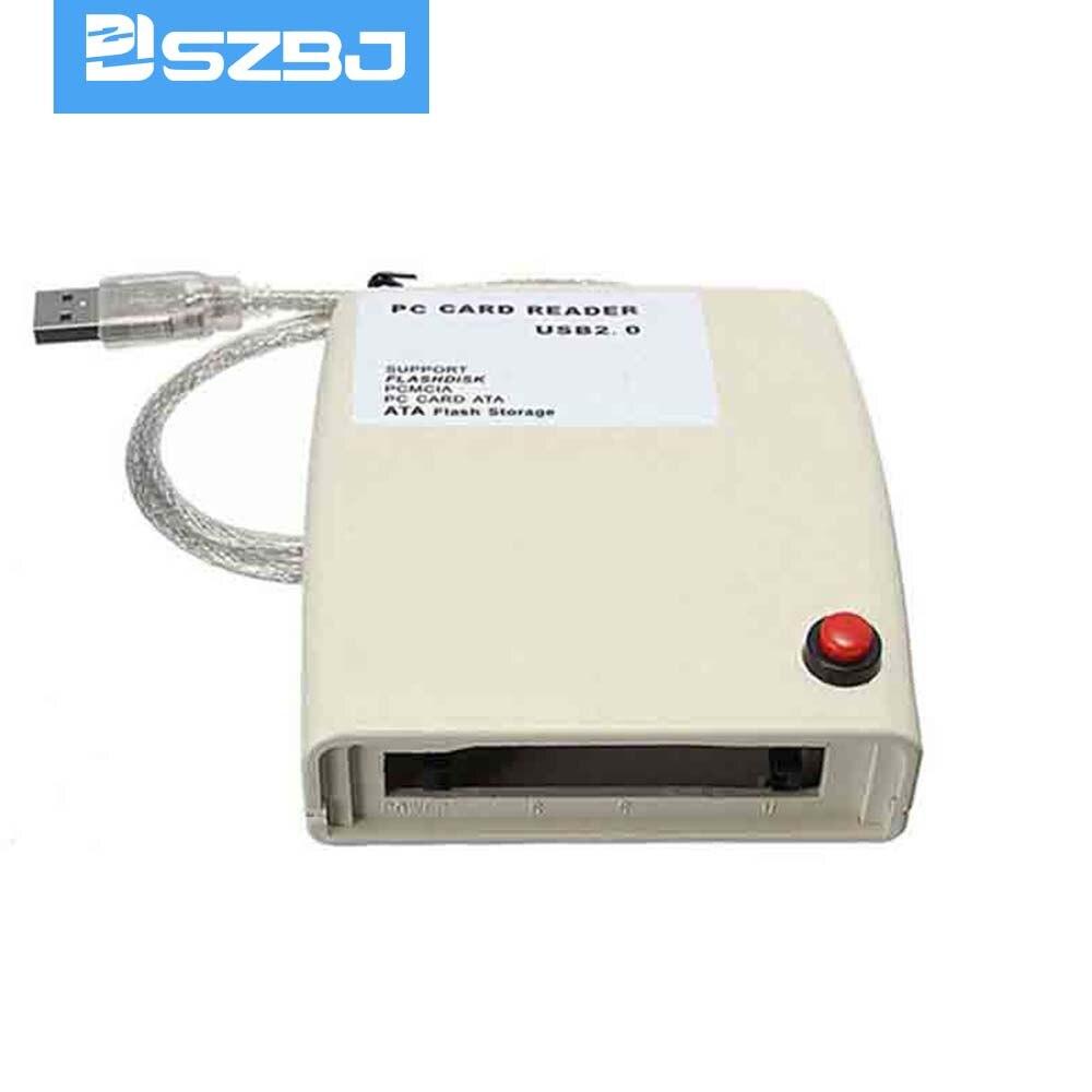 Lecteur de carte mémoire PCMCIA interface USB 2.0, lecture flash disque/PCMCIA/carte PC ATA/ATA carte flash carte de lecture industrielle