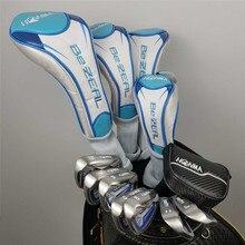 العلامة التجارية الجديدة للمرأة HONMA نادي الغولف HONMA BEZEAL 525 جولف مجموعة كاملة مع غطاء رأس مضرب الخشب (لا حقيبة)