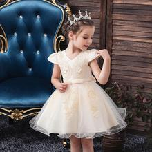 Children's princess dress for 1 3 5 birthday party flower girl wedding dress small host catwalk piano costume for Christmas part