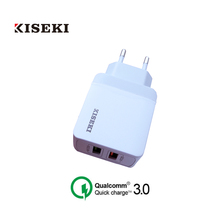 mobile charger  2usb fast 30W qc 3.0 QC Turbo Fast Charging For iPhone Xiaomi mi 9 Huawei P30 Pro
