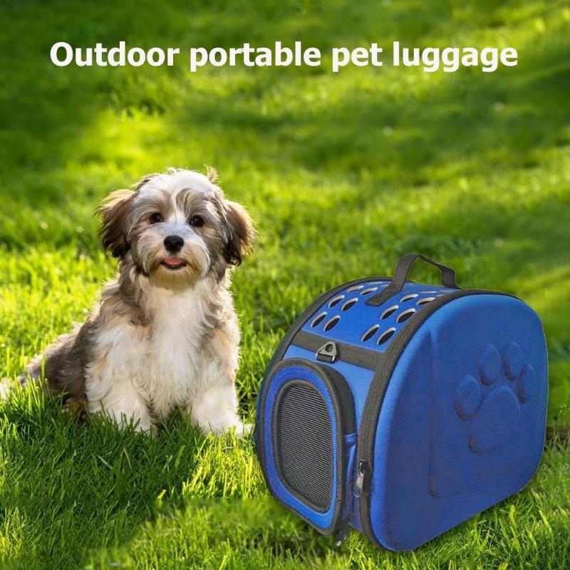 EVA Pet Carrier Bag Foldable Outdoor Solid Color Cat Dog Travel Bag Pets Puppy Carrying Shoulder