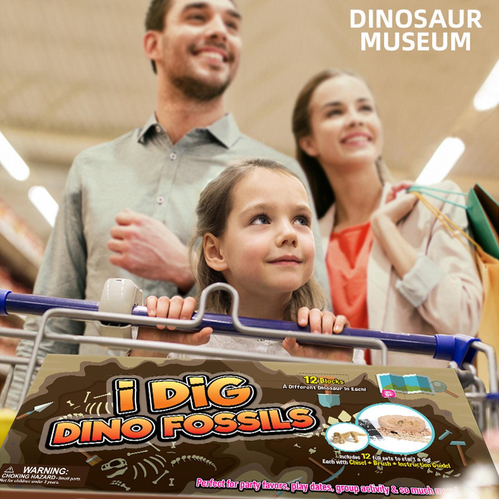 Dig A Dozen Dino Eggs Dig Kit Easter Egg Toys For Kids Break Open 12 Unique Large Surprise Dinosaur Filled Eggs Crafts Gifts