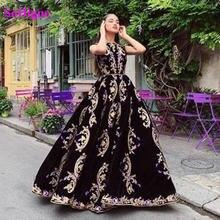 Винтажное велюровое марокканское платье soworthy вечернее с