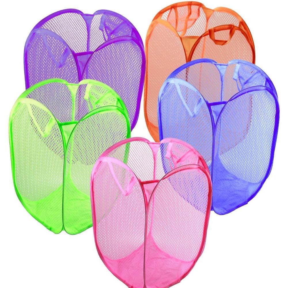 Clothes Laundry Basket Bag Foldable Dirty Clothes Basket Colour Toys Multiple Storage Children Folding Nylon Storage Househ G1O1