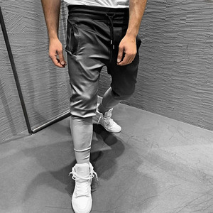 Image 2 - Pantalones de chándal con gradiente para hombre, ropa deportiva, culturismo, otoño