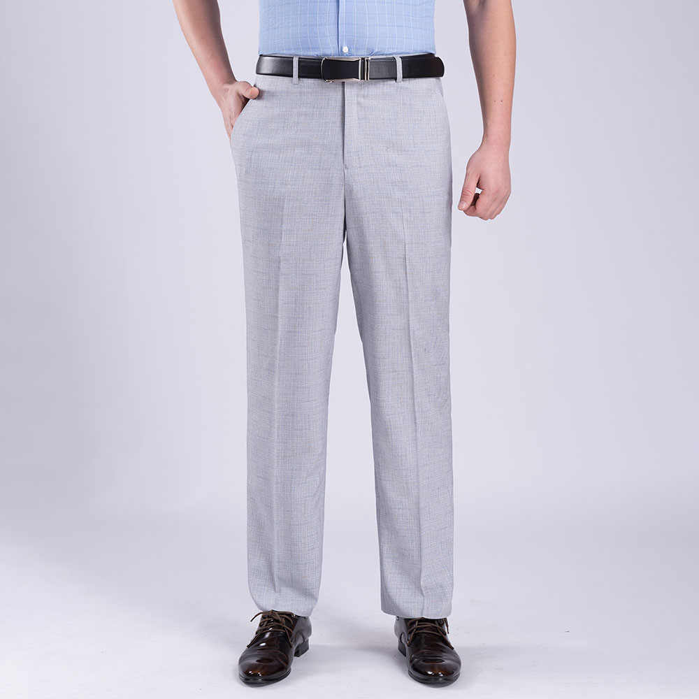 Men Formal Trousers Casual Office Business Work Dress Straight Pants Waist 30-40