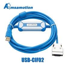 USB CIF02 ดาวน์โหลดสายสำหรับOmron CPM1A/2A Series PLCการเขียนโปรแกรมสายอัพเกรดCQM1 CIF02 พอร์ตUSB