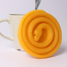 Concrete cup mat silicone mold snake design cement coasters