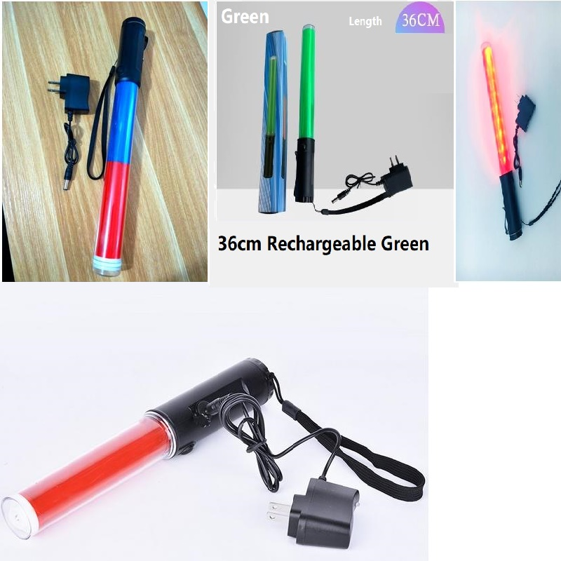 Rechargeable Traffic Control Baton LED Warning Light For Police Road Block Explosion Light Fluorescent Stick