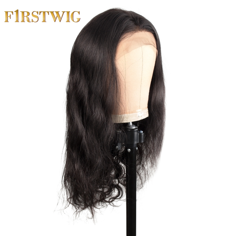 Lace Front Human Hair Wigs Fake Scalp Wig Body Wave For Black Women Pre Plucked Baby Hair 13x6 Remy 130/180 Density Firstwig