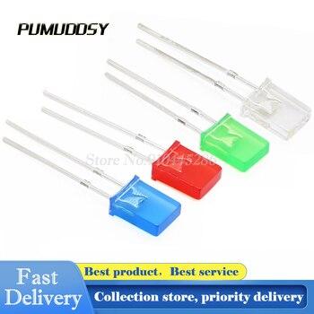100 pçs/lote 2*3*4mm diodo led 2x3x4 quadrado diodo emissor de luz amarelo