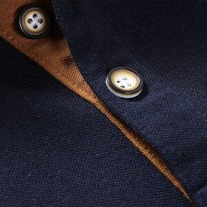 Image 5 - Męskie koszulki Polo męskie bawełniane koszulki Polo męskie koszulka Polo z krótkim rękawem męskie topy slim Casual oddychające jednokolorowe koszule biznesowe
