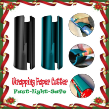 Скользящий резак для оберточной бумаги Рождественский подарок оберточная бумага рулон резак инструмент режет префект линии каждый раз